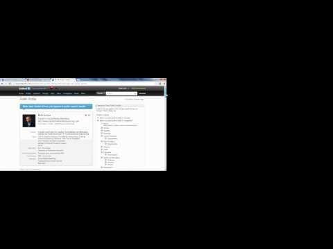 How do I change the URL on my LinkedIn Profile
