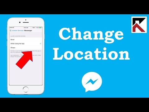 How To Change Location Settings Facebook Messenger iPhone