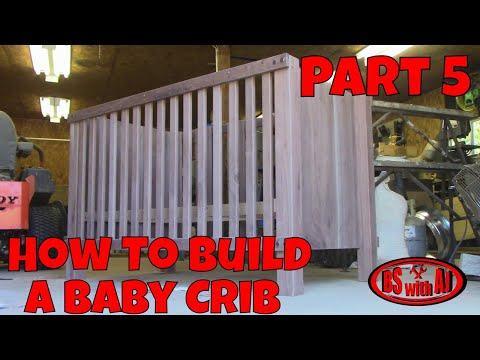 Walnut Baby Crib Part 5!!