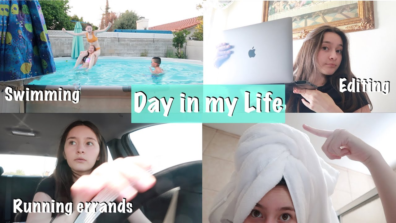 A day in my life (swimming, running errands, summer school)