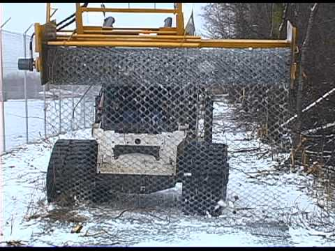 Removing Used Chain Link from Snow