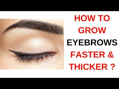 How To Grow Eyebrows Faster and Thicker Naturally | Happy Pink Studio