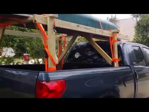 DIY Home made canoe/kayak rack!!