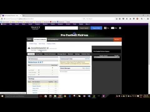 Confidence Points Intro (Yahoo NFL Pick `em League)
