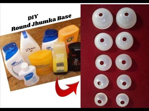Round jhumka Base making with Empty shampoo bottles