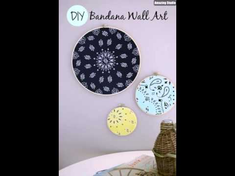 DIY Bandana Wall Art