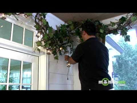 Installing Lights to the Grapevine Garland