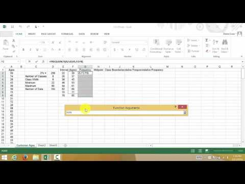 Excel Creating A Frequency Distribution Table