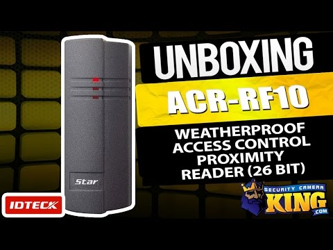 Unboxing - ACR-RF10 - IDTECK Weatherproof Access Control Proximity Reader (26 bit) (small)