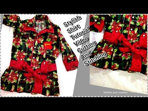 Baby Designer Shirt For Girl baby Clothes Online/قميص، ب، جيرل/قطع وخياطة