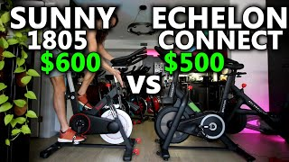 Echelon Connect Sport vs Sunny SF-B1805 - $600 Sunny Bike compared to $500 Echelon Bike review