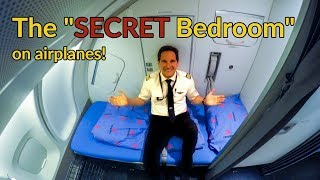 Where do PILOTS+FLIGHT ATTENDANTS sleep on PLANES?Explained by CAPTAIN JOE
