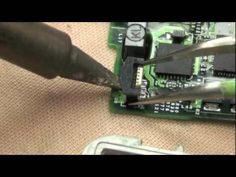 Fix ipod classic battery connector repair