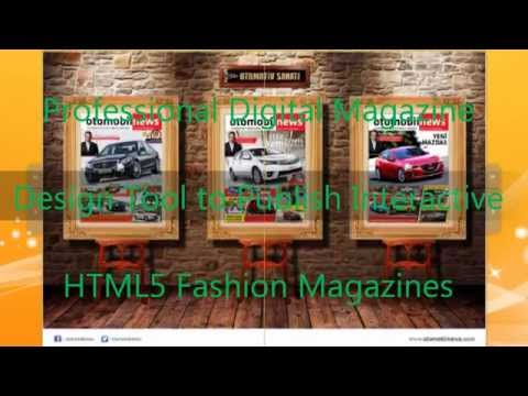 Professional Digital Magazine Design Tool to Publish Interactive HTML5 Fashion Magazines