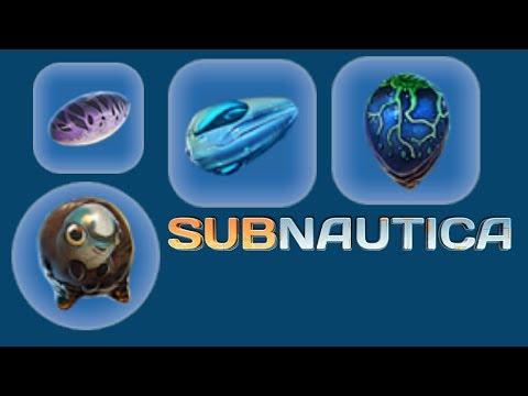 Subnautica - all creature egg hatching animation - Stuff