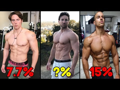 REAL BODY FAT PERCENTAGE EXAMPLES (My Body Fat % Test Results)