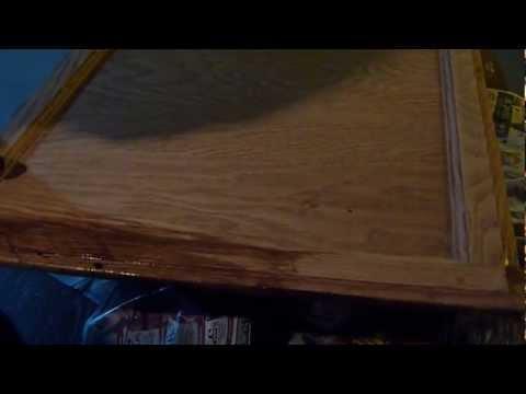 DIY refinishing wood kitchen cabinets
