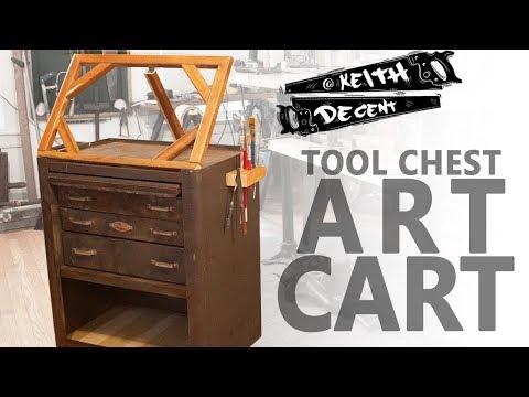 TOOL CHEST ART CART - a Decent project