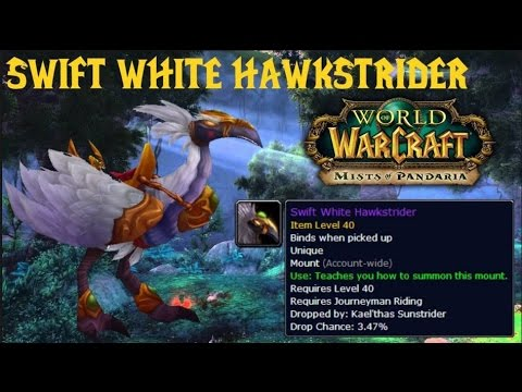 Wow - How to get the Swift White Hawkstrider mount From Magisters Terrence - Solo Guide!