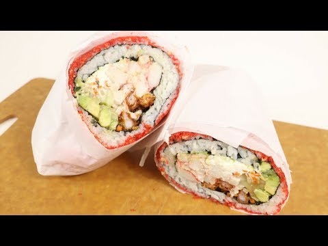 How to make hot cheetos shrimp tempura sushiritto!