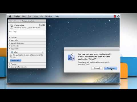 How to change default application for a file in Mac® OS X™