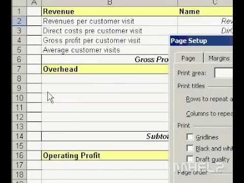 Microsoft Office Excel 2003 Print row and column labels on every page