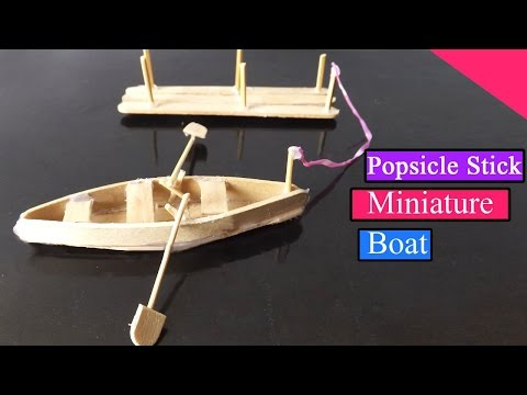 Popsicle Stick Crafts | How To Make A Cute Miniature Boat ( EASY)