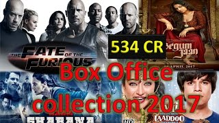 Box office collection Of The Fate of the Furious, Begum jaan, Naam Shabana etc 2017