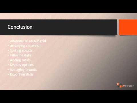 SAP ALV Grid - Conclusion