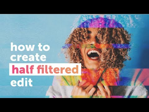 How to create a half filtered edit! PicsArt Tutorial