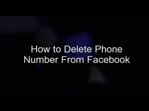 How to Delete Phone Number from Facebook in telugu - Techno Grab
