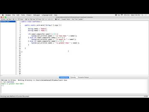 93. Comparing Strings: compareTo() method - Learn Java