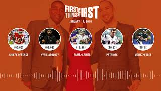 First Things First audio podcast(1.17.19) Cris Carter, Nick Wright, Jenna Wolfe | FIRST THINGS FIRST