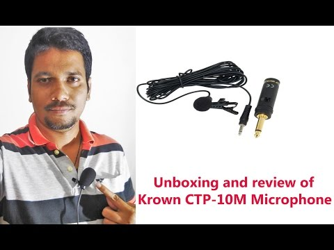 Hindi || Unboxing and review of Krown Economical Series Mini Condenser Tie/Clip/Collar Microphone