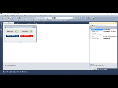 VB.NET How to create Popup Buttons in WinForms Application In Urdu