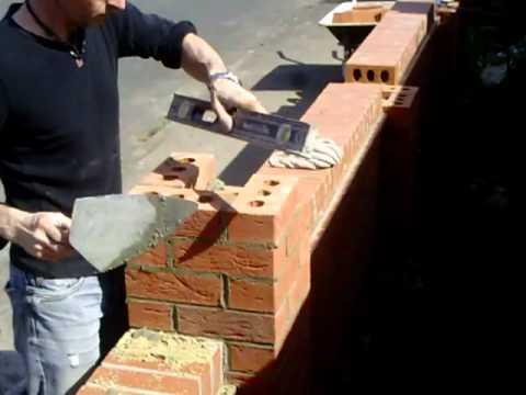 the fine art of brickwork - Raising a pier