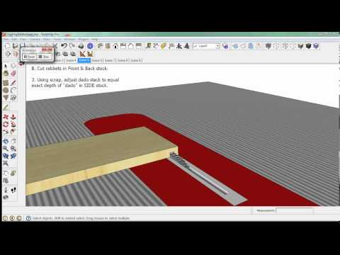 Locking Rabbet Joint on Table Saw