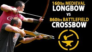 Download 160lbs Longbow vs 860lbs Crossbow - Speed and Accuracy Test Video