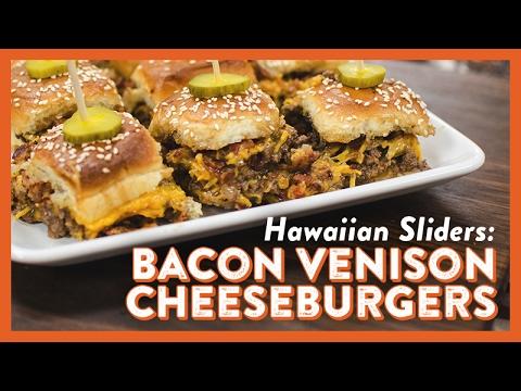Hawaiian Sliders: Bacon Venison Cheeseburgers   Legendary Recipe
