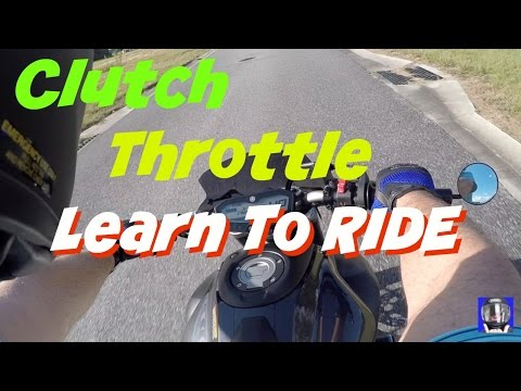 Clutch and Throttle Control, Learn to Ride a Motorcycle - Part 2 on FZ-07