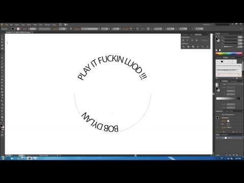 Adobe Illustrator CS6 - Creating Circular Text / Tutorial