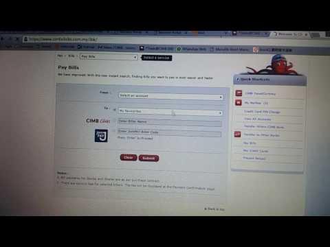 Work: Bill payment from cimb clicks