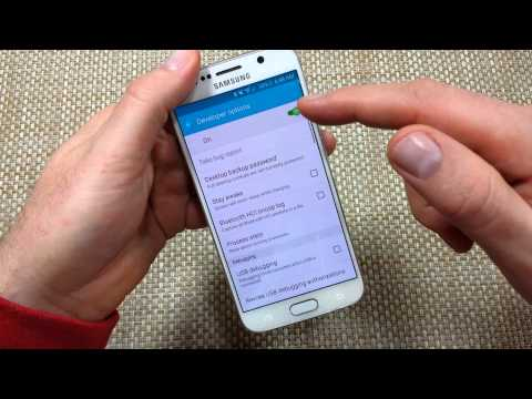 Samsung Galaxy S6 Turn on or Enable Developer Options & USB Debugging mode