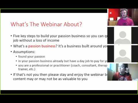 Webinar -  Key Steps to Quiting Your Day Job & Building a Lifestyle Passion Business