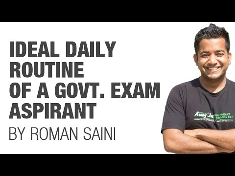 (1/2) Ideal Daily Routine of a government exam aspirant/student (UPSC CSE/IAS preparation)