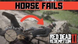 Rdr2 Horse Fails Compilation (red Dead Redemption 2)