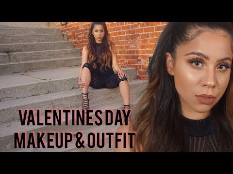 VALENTINES DAY : MAKEUP + OUTFIT
