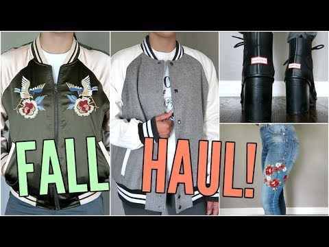 FALL HAUL! TRYING ON NEW CLOTHES! EXPRESS, FOREVER 21, NORDSTROM!