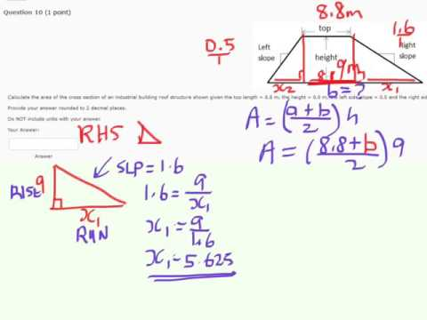 elearn Isu,02 question 10 Area of a Trapezoid with Slopes Given