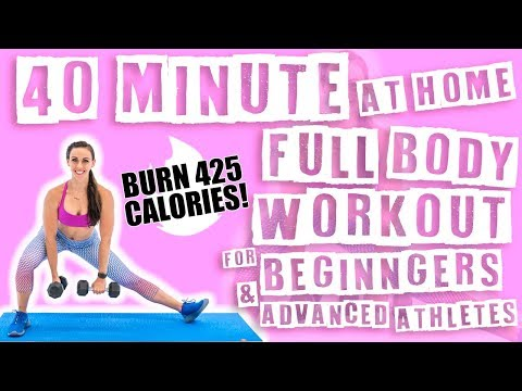 40 Minute At Home Full Body Workout For Beginners & Advanced Athletes 🔥 Burn 425 Calories! 🔥